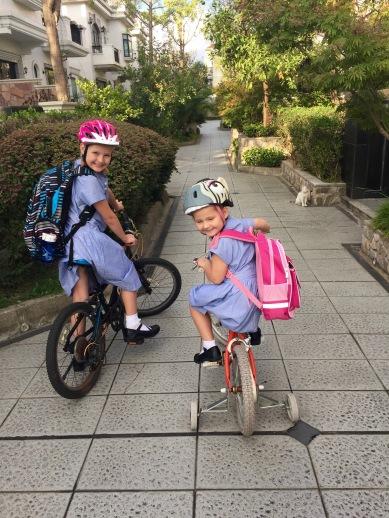 girlsridingbikes